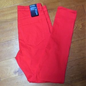 Divided Red High Waist Super Skinny Jeans